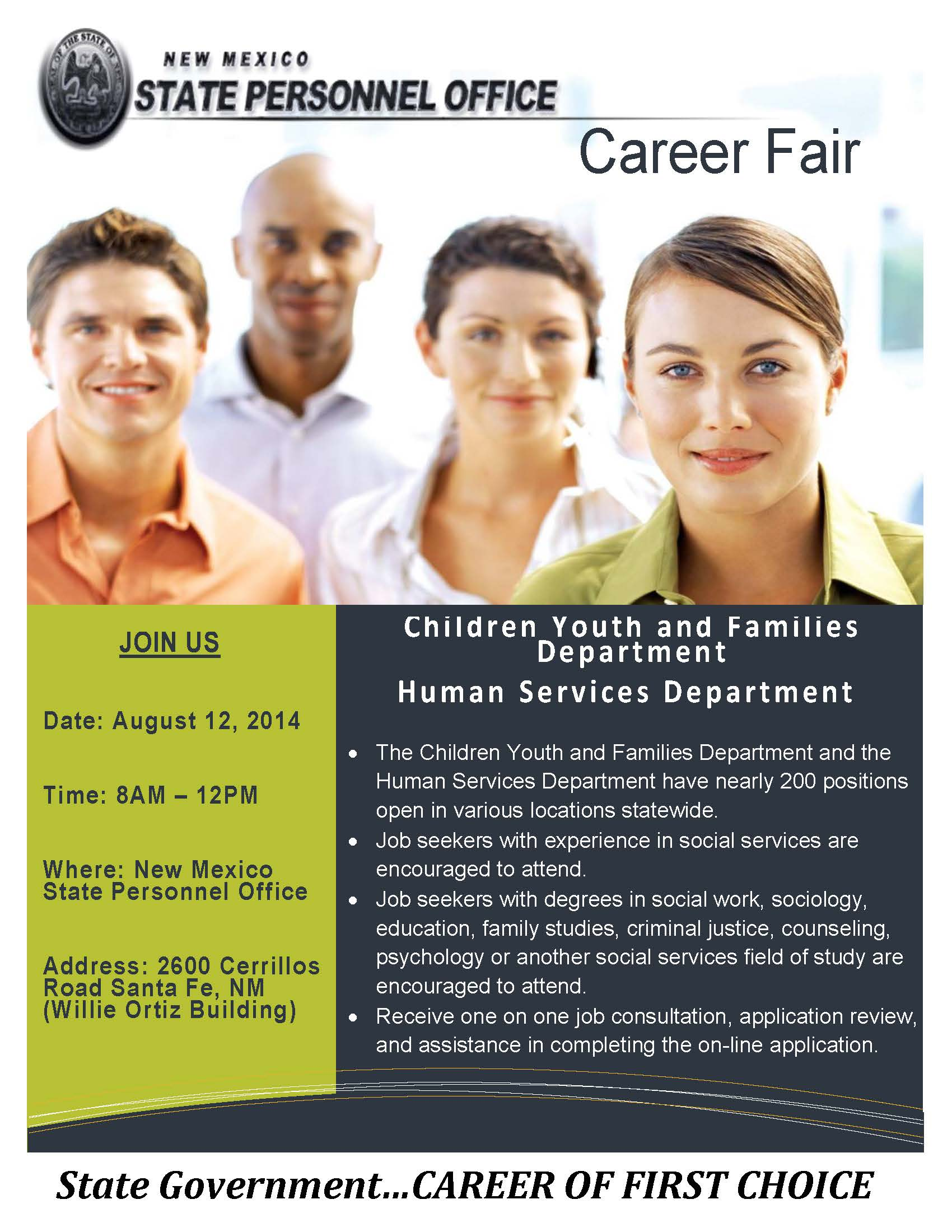 CYFD and HSD Hosting Joint Job Fair
