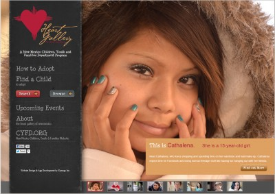 New Design for New Mexico's Online Heart Gallery!